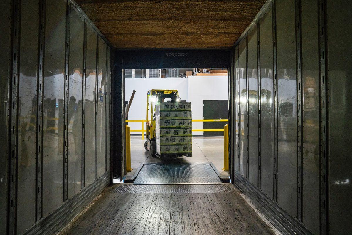 10 Barrel Brewing Warehouse Delivery Forklift