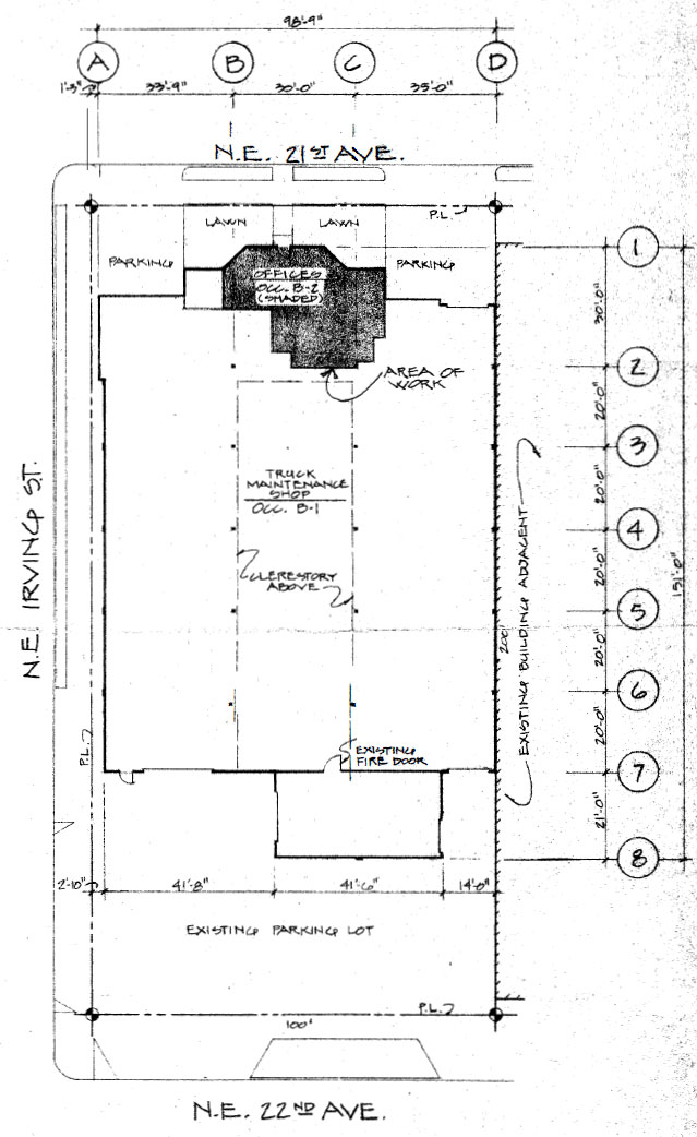 Overhead diagram of 710 NE 21st Portland Oregon